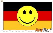 GERMAN SMILEY FACE ANYFLAG RANGE - VARIOUS SIZES